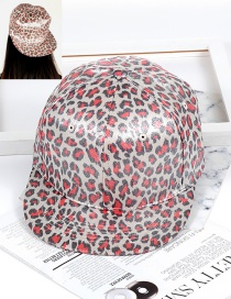 Personality Red Leopard Shape Decorated Hat