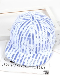 Fashion Blue Lace Shape Decorated Hat