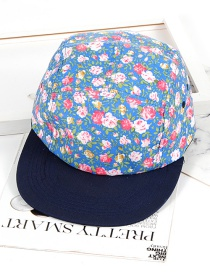 Fashion Blue Flower Shape Decorated Hat