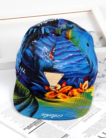 Fashion Blue Triangle Shape Decorated Hat