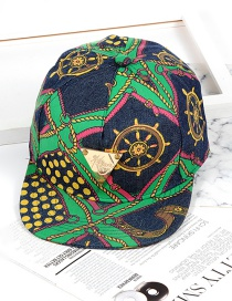 Fashion Green Triangle Shape Decorated Hat