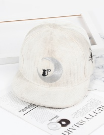 Fashion White Moon Shape Decorated Hat