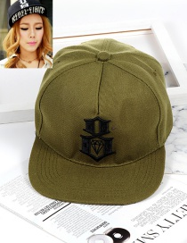 Fashion Green Diamond Pattern Decorated Hat