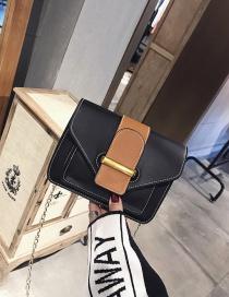 Fashion Black Belt Buckle Decorated Bag