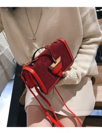 Fashion Red Triangle Shape Decorated Bag