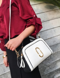 Fashion White Color-matching Decorated Bag