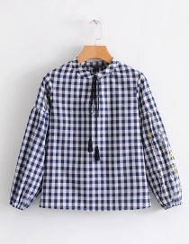Fashion Black+white Stripe Shape Decorated Shirt
