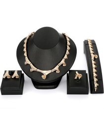Fashion Gold Color Spiral Shape Decorated Jewelry Sets(4pcs)