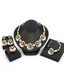 Fashion Gold Color Geometric Shape Decorated Jewelry Sets(4pcs)