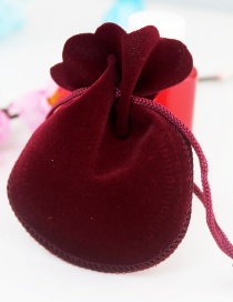 Fashion Claret Red Pure Color Decorated Bags