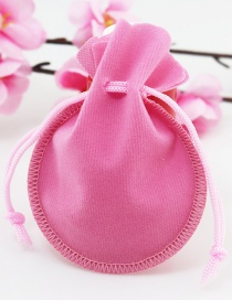 Fashion Pink Pure Color Decorated Bags