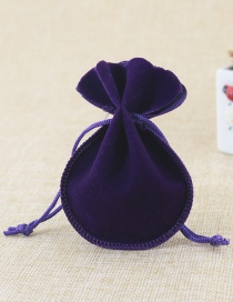 Fashion Purple Pure Color Decorated Bags