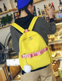 Fashion Yellow Bowknot Shape Decorated Backpack