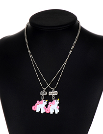Fashion White Letter Shape Decorated Neckace