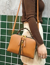 Fashion Brown Tassel Decorated Bag
