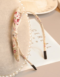 Elegant Beige Printing Pattern Decorated Hair Clip