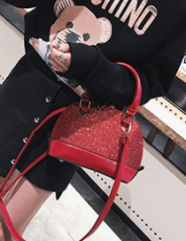 Fashion Red Paillette Decorated Bag