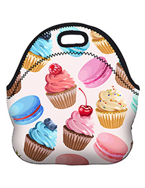 Fashion Multi-color Ice Cream Pattern Decorated Bag