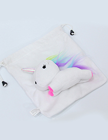 Lovely White Cartoon Unicorn Design Cosmetic Bag(or Wallet)