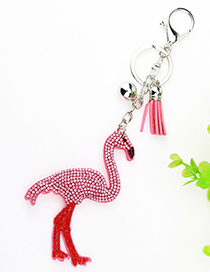 Lovely Pink Flamingo&tassel Decorated Ornaments
