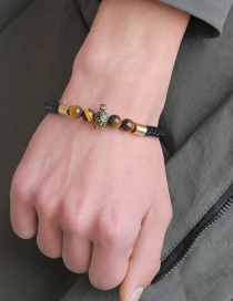 Fashion Gold Color+brown Helmet Shape Decorated Bracelet