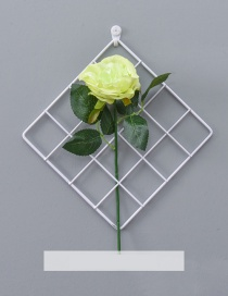 Fashion White+light Yellow Grid Shape Design Pure Color Ornament(with Rose)