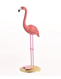Fashion Dark Pink Flamingo Shape Design Ornament
