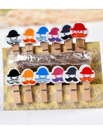 Fashion Multi-color Hat&beard Decorated Color Matching Clips(10pcs)
