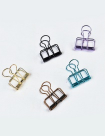 Fashion Multi-color Color Matching Decorated Hollow Out Clips(big 5pcs)