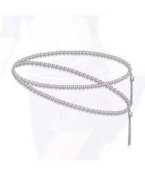 Fashion Silver Color Diamond Decorated Body Chain