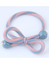 Sweet Pink+blue Bowknot Shape Design Hair Band