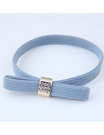 Sweet Blue Bowknot Shape Design Hair Band