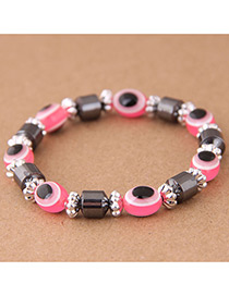 Fashion Pink Eye Shape Decorated Bracelet