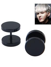 Fashion Black Dumbbell Shape Design Earring