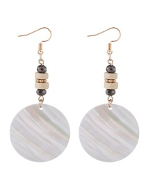 Elegant Multi-color Round Shape Design Simple Earrings