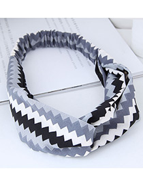 Fashion Gray+black Sawtooth Pattern Decorated Hairband