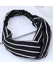 Fashion Black Stripe Pattern Decorated Headband