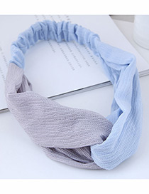 Fashion Gray Color Matching Decorated Headband