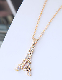 Fashion Gold Color Tower Shape Decorated Necklace