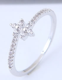 Fashion Silver Color Cross Shape Decorated Pure Color Ring