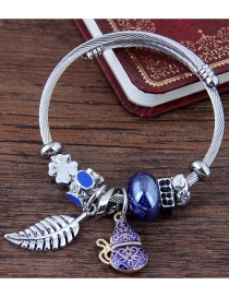 Fashion Blue Leaf Shape Decorated Bracelet