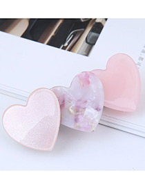 Fashion Pink Heart Shape Design Hair Clip