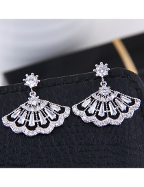 Fashion Silver Color Shell Shape Decorated Earrings