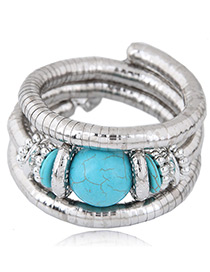 Fashion Blue Multi-layer Design Bracelet