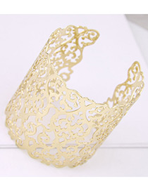 Fashion Gold Color Hollow Out Design Opening Bracelet