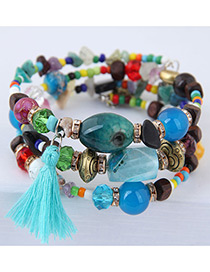 Fashion Multi-color Tassel Decorated Multi-layer Bracelet
