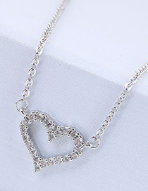 Fashion Silver Color Heart Shape Decorated Necklace