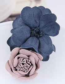 Fashion Blue+pink Flower Shape Decorated Hairclip