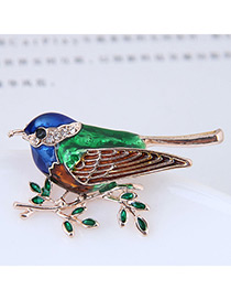 Elegant Gold Color Magpie Shape Design Simple Brooch