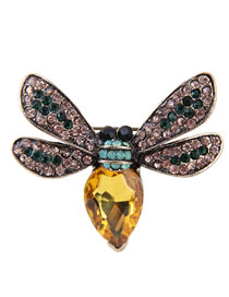 Simple Multi-color Bee Shape Decorated Brooch